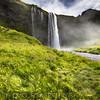 Low Angle View of the Seljalandsfoss Waterfall, Iceland
