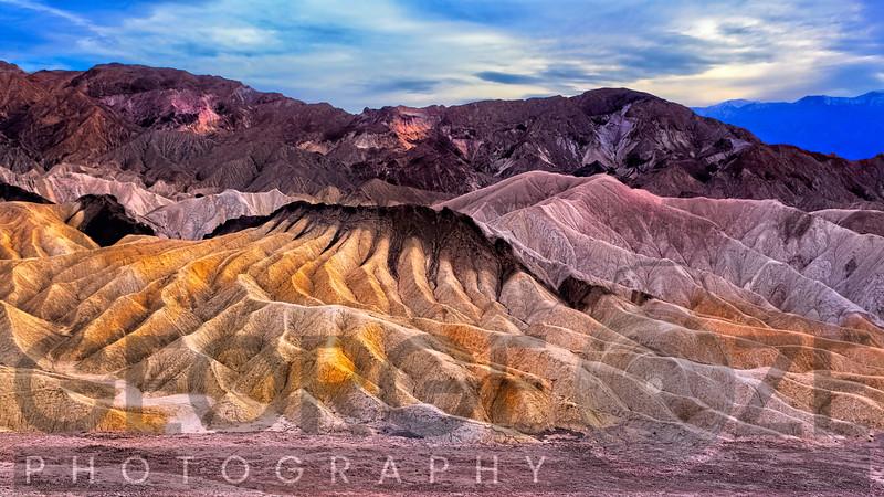 Eroded Mountains at Zabriskie Point, Death Valley, California
