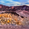 Eroded Mountains at Zabriskie Point, Death Valley, California
