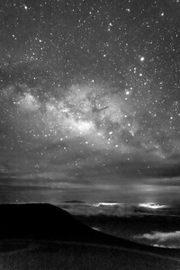 Center of Milky Way Galaxy over Kona Hawaii From Haleakala Crater