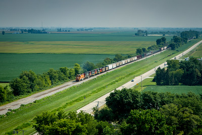 Train on the Modern Prairie