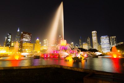 Buckingham Fountain Full Speed
