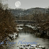 Moon in stream scene-2