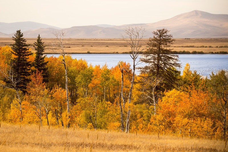 Upper Red Rock Lake and Fall Colors