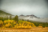 Red Rock Mountain and fall Aspen colors