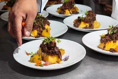 Braised Goat with Roasted Golden Beets