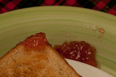12/27 - Toast and Jam for breakfast.