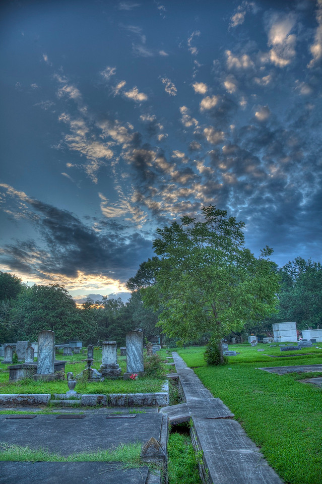7/28 - Sunrise in cemetary