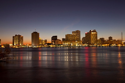 12/17 - View of downtown New Orleans from West Bank of the river.