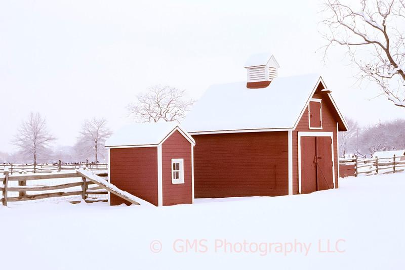 Winter Snow Scene At Longstreet Farm