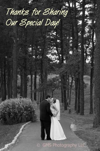 "Wedding ""thank you"" card cover"