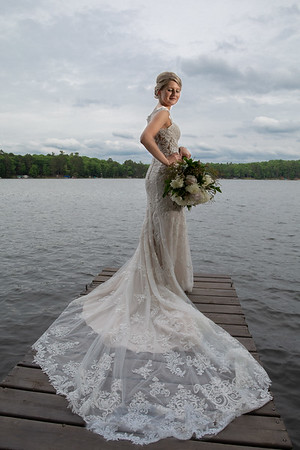Rustic Bride at Black Bear Lodge