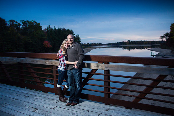 Northwoods Wisconsin engagement photography by Midwest Wedding Photographer Fornear Photo