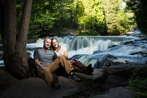 Fornear Photo Michigan UP Waterfalls Engagement Photography