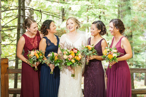 Northwoods Wedding Bridesmaids