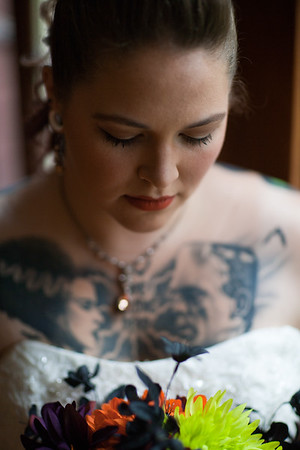 Halloween Wedding Tattooed Bride by Fornear Photo