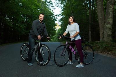 Eagle River bike engagement shoot