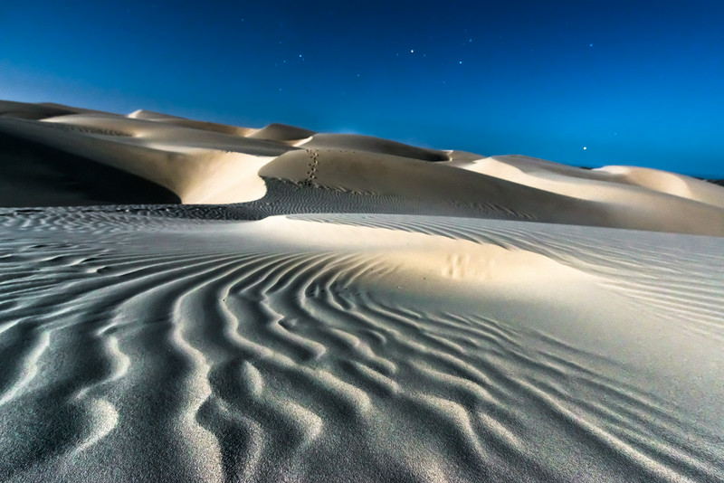 Dunes by Full Moon