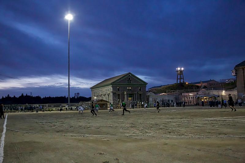 Folsom Prison Athletic Yard