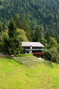 Chalet in the Alps, St. Johann im Pongau, Austria.