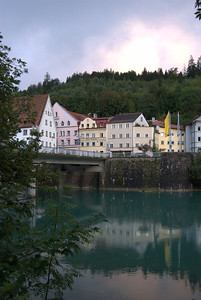 The Village of Füssen, Germany along the Lech River