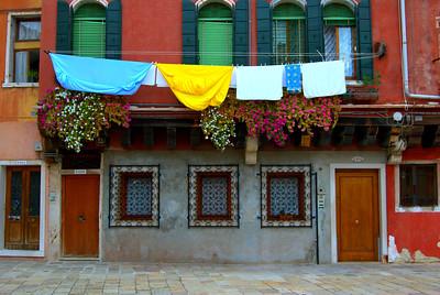 Laundry Day in Venice, Italy