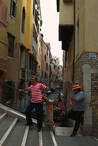 Gondoliers, Venice, Italy