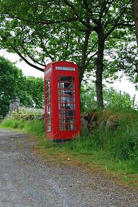 Red Phone Booth, Roadside, Isle of Skye, Scotland
