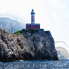 Low Angle View of the Punta Carena Lighthouse, Anacapri, Campania, Italy