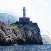 Low Angle View of the Punta Carena Lighthouse, Anacapri, Campania, Italy