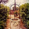 Antique Italian Well in a Garden at Lake Garda