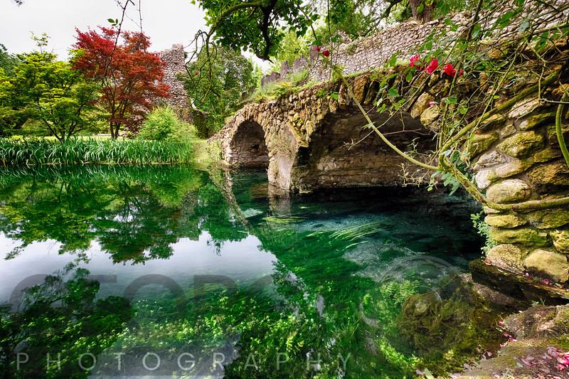 Ancient Bridge Over The Ninfa Creek, Latina, Italy