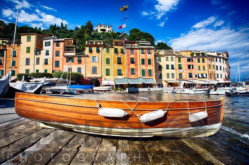 Boat on the Shore, Portofino, Liguria, Italy