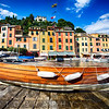 Boat on the Shore, Portofino, Liguria, Italy