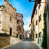 Main Street of a Medieval Town, Sermoneta, Lazio, Italy