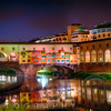 Arno River Night Reflections at Ponte Vecchio, Florence, Tuscany, Italy