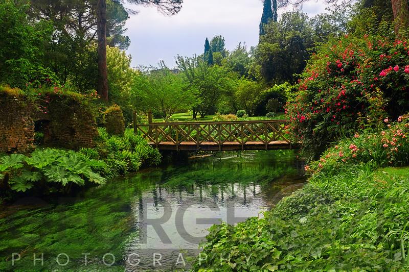 Small Footbridge in a Garden, Latina, Italy