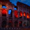 Glowing Arches of the Colosseum, Rome, Lazio, Italy