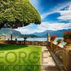 Villa Terrace at Lake Como, Lombardy, Italy