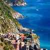Cinque Terre Towns on the Cliffs, Vernazza and Corniglia, Liguria, Italy