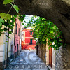 Street View from Under an Arch, Monterosso Al Mare, Cinque Terre, Italy