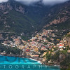 High Angle View of a Coastal Town on the Hills, Positano, Campania, Italy