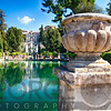 Villa Garden with a Pond and Fountain, Tivoli, Italy
