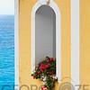 Flower in Window at Seaside, Positano, Campania, Italy