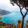 High Angle View of the Amalfi Coast at Ravello, Campania, Italy
