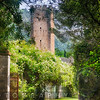 Garden Entarnce with a Medieval Tower, Garden of Ninfa, , Italy