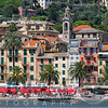 Beachfront View of the Italian Riviera at Santa Margherita, Liguria, Italy