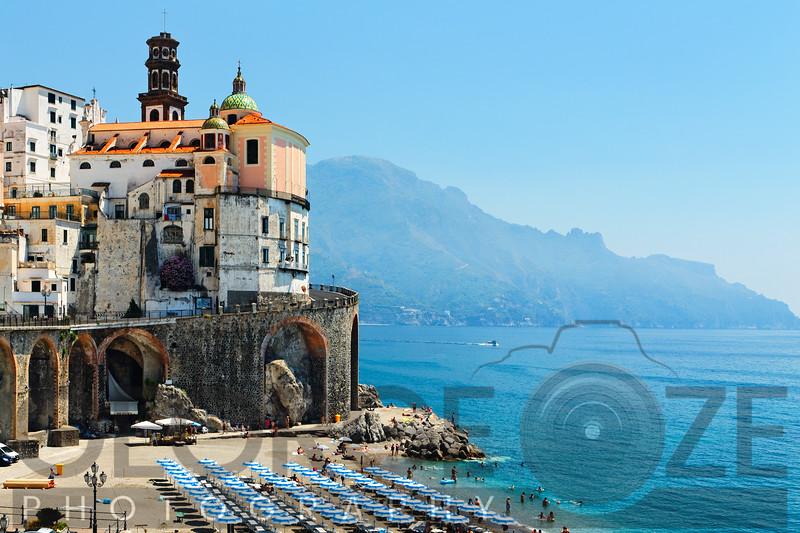 Beach of a Coastal Town, Atrani Campania, Italy
