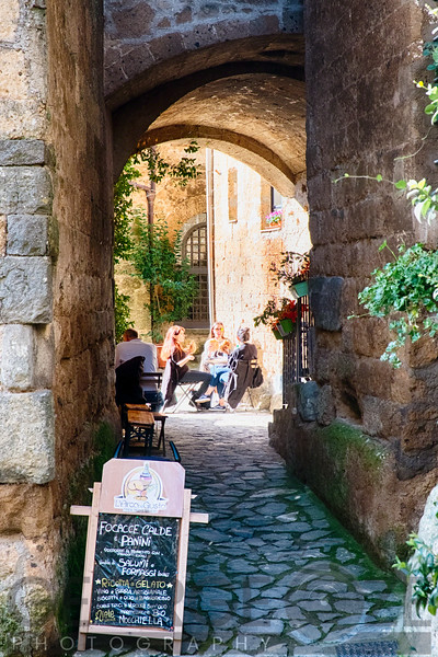 Relaxing in Historic Italian Town, Italy