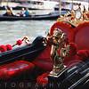 Close Up View of a Trumpeting Angel Gondola Ornament, Rialto, Venice, Italy